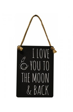 I Love You to the Moon and Back Vintage Mini Metal Sign