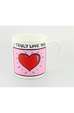 I Truly Love You Mug - By Edward Monkton