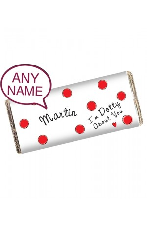 Im Dotty About You Personalised Chocolate Bar