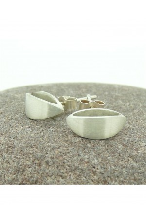 Curvature Sterling Silver Stud Earring by Claire Wood