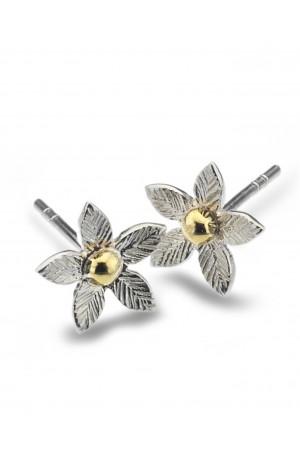 Sea Gems Silver Petal stud Earrings - P2264