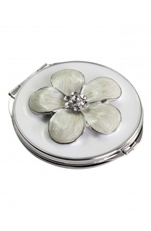 VICCI Cherry Blossom White Double Mirror Compact