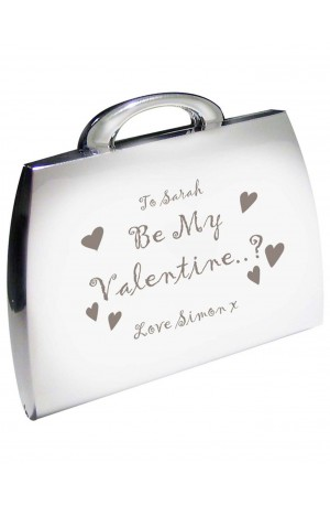 Personalised 'Be My Valentine' Handbag Compact