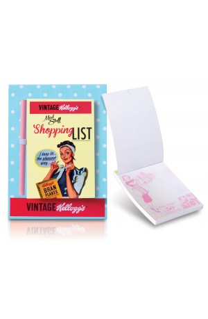 Kellogg's Vintage 50's Magnetic Shopping List