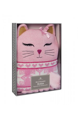 Knitted Animal Hottie Cat by Aroma Home