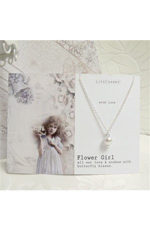 Flower Girl Pearl Necklace