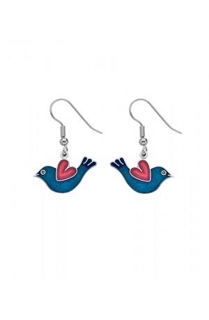 Love Bird Enamel Earrings