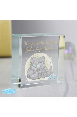 Me to You Gold Stars Personalised Medium Crystal Token
