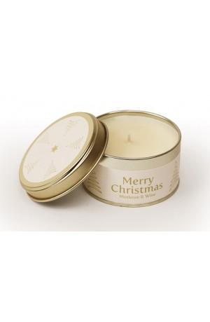 Christmas Gold - Mistletoe & Wine Pintail Candle