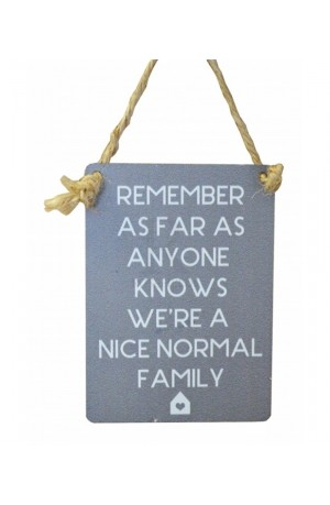 Normal Family Mini Metal Sign