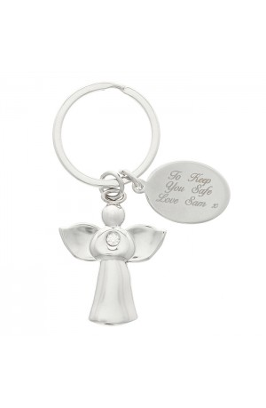 Diamante Angel Keyring