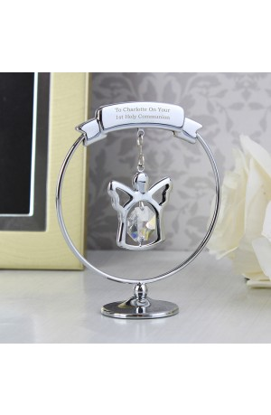 Crystal Angel Ornament with Personalised Message