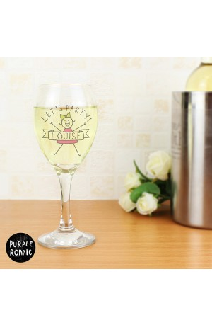 Purple Ronnnie for Her Personalised Celebration Wine Glass