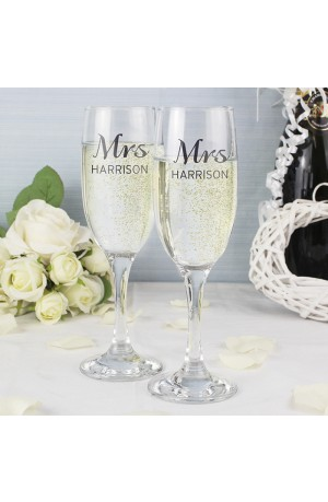 Pair of Personalised Classic Flutes with Gift Box