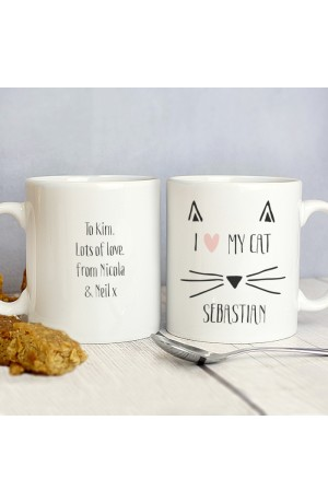 Personalised Cat Mug