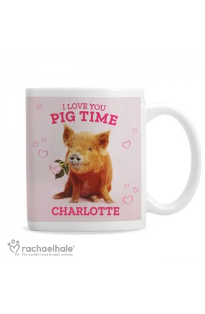 Rachael Hale 'I Love You Pig Time' Personalised Mug