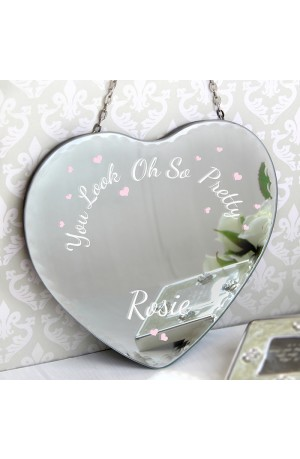 Personalised Vintage Heart Mirror - Oh So Pretty