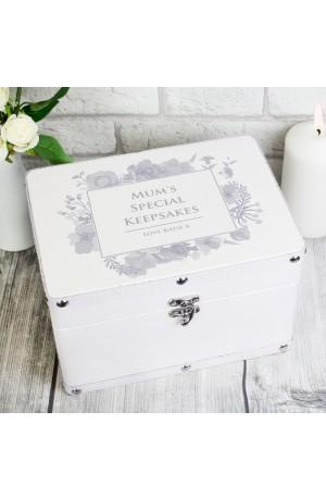 Watercolour Leatherette Personalised Keepsake Box