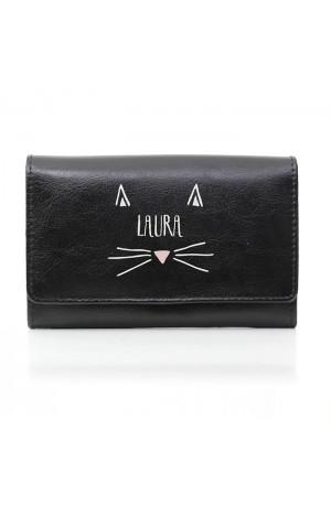 Personalised Black Cat Purse
