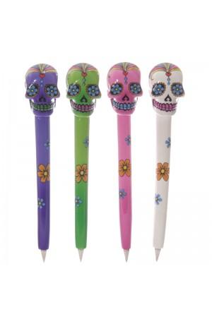 Day Of The Dead Skull Pens