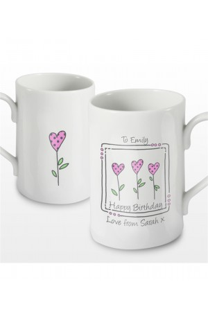 Personalised 3 Heart Mug