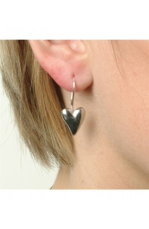 Pewter Heart Earrings by Glover and Smith