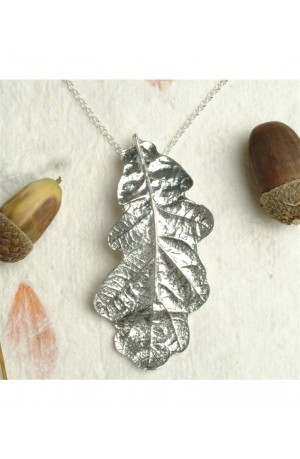 Pewter Acorn Necklace by Glover and Smith