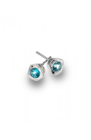 Sea Gems Turquoise Cubic stud Earrings - P2333B