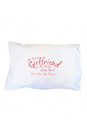 Sexiest Girlfriend in the World Personalised Pillowcase