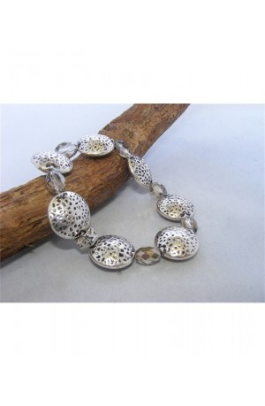 Silver Nugget Bracelet by Kirsty Allan