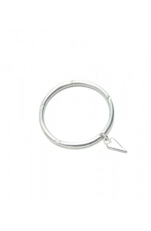 Solid Bangle with Elongated Heart by Luna London
