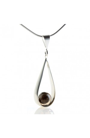 Teardrop 3rd Anniversary Year Pendant Necklace by Claire Wood
