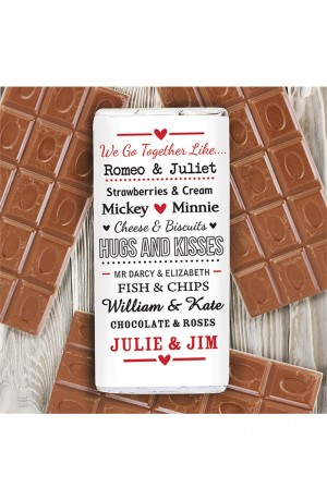 We Go Together Like Personalised Chocolate Bar