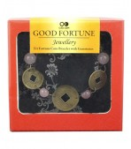 Carved Gem Coin Bracelet - Rose Quartz