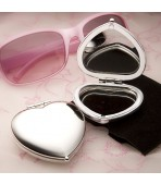 Heart Compact with Engraving